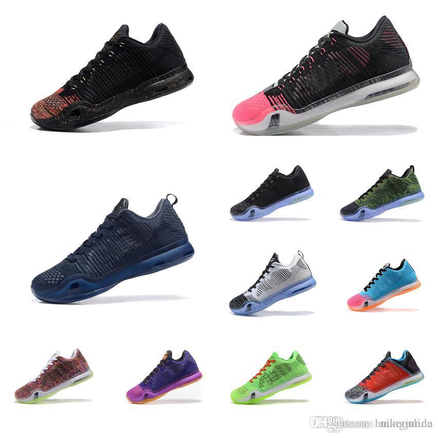 premium selection 0d333 34a23 Acheter Hommes Pas Cher Ce Que Le Kobe 10 X Chaussures De Basket Ball Élite  De Noël Or Rouge Noir Blanc HTM Violet BHM FTB KB Baskets Bottes Tennis À  Vendre ...