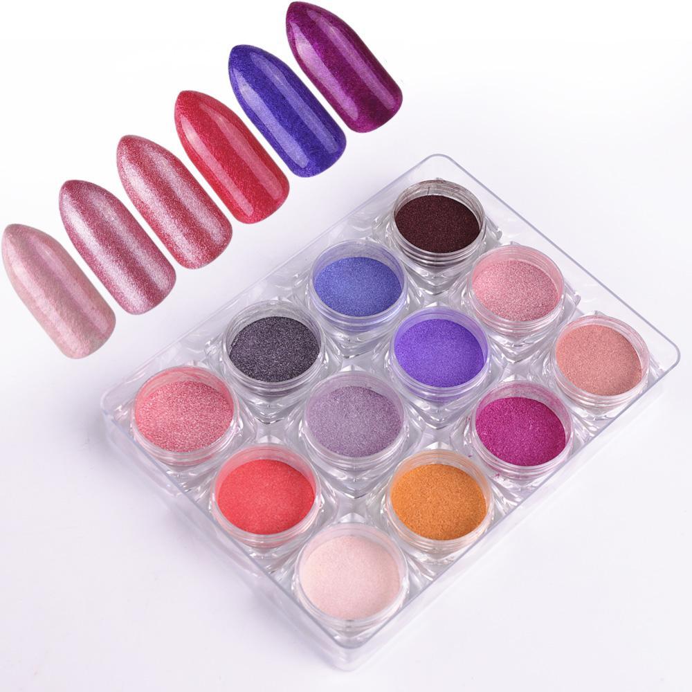 Gradient Nail Glitter Powder Dust Shimmer Pigment Uv Gel Polish