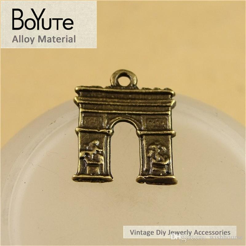BoYuTe  16*14MM Antique Bronze Plated Triumphal arch Pendant Charms for Jewelry Making Diy Accessoreis Parts Hand Made