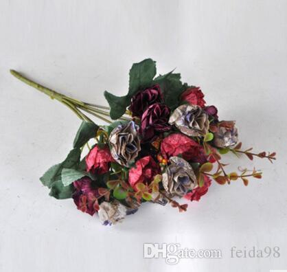 Simulation Blume, europäischen Stil Herbst Edition Diamond Rose, Blume Dekoration Blume Fotografie Foto Requisiten L116