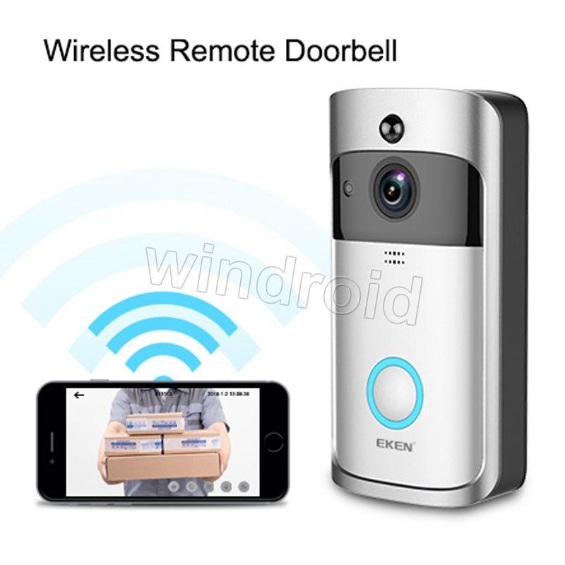 Original EKEN WIFI Doorbell Wireless Video Door Phone 720P HD PIR Intercom IP Camera Two way Audio 166° Wide-angle Camera Lens Security