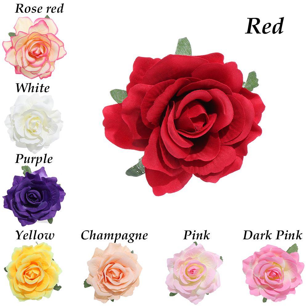 Chic Bridal Rose Flower Hairpin Wedding Bridesmaid Brooch Party Hair Clip Barrettes Accessories bijoux femme