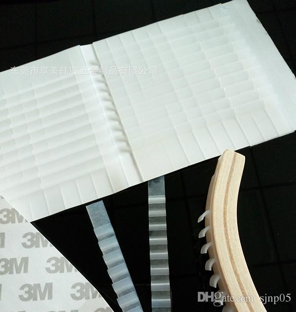 Anti-slip 스티커 실리콘 고무 의류 랙 미끄럼 방지 스트립 투명 옷걸이 재그 접착 그립 패드 Hanging Clothes Home Organizer Use