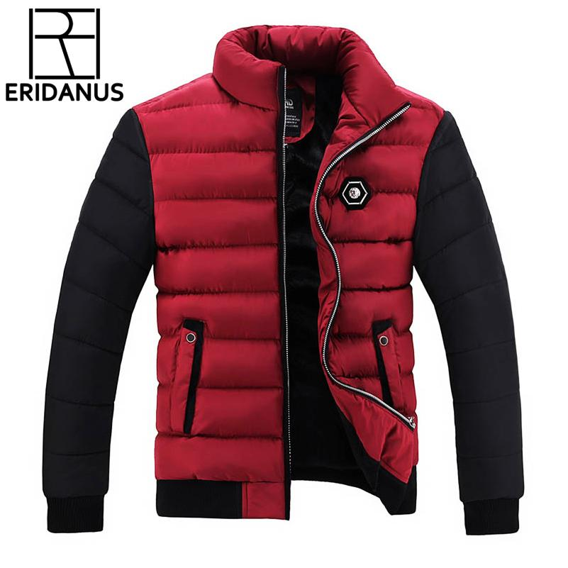 7b0d99c6e473 Winter Jacket Men Coats 2017 New Slim Fit Stand Collar Cotton-Padded ...