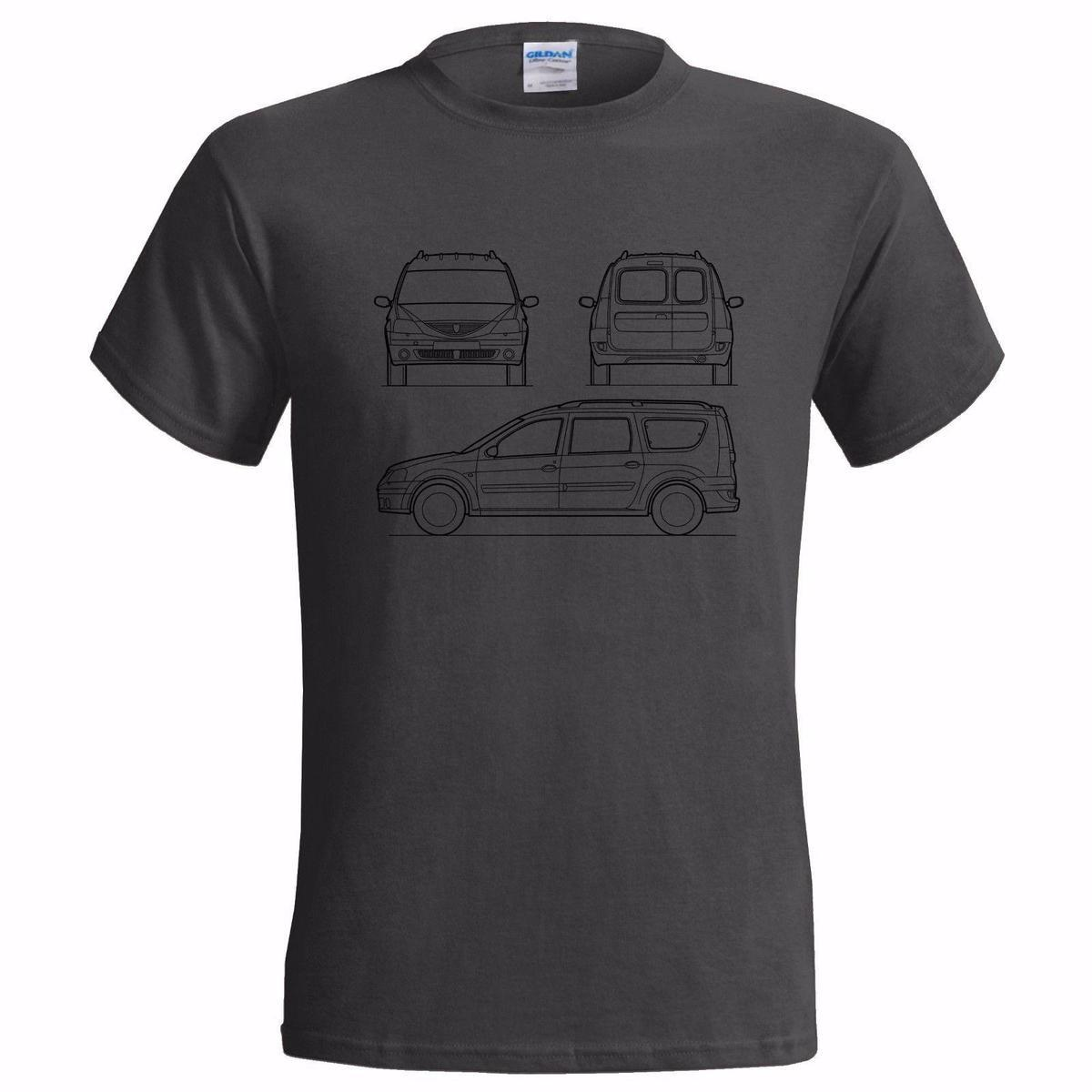 DACIA LOGAN TECH DRAWING MENS T SHIRT CLASSIC CAR RENAULT FAMILY