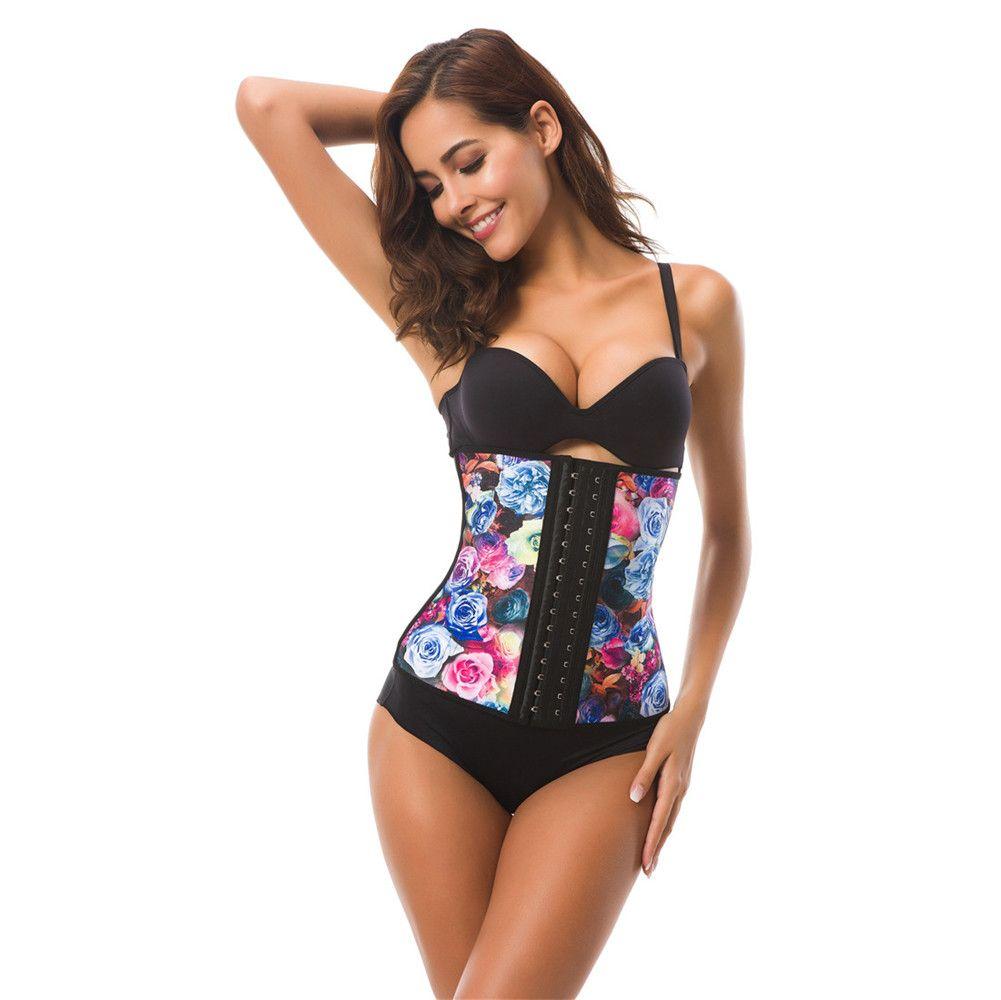 Shapewear shapewear underbust corset das mulheres de borracha de látex de borracha treinamento da cintura cincher shaper estiramento colete gcw1509 xs-3xl
