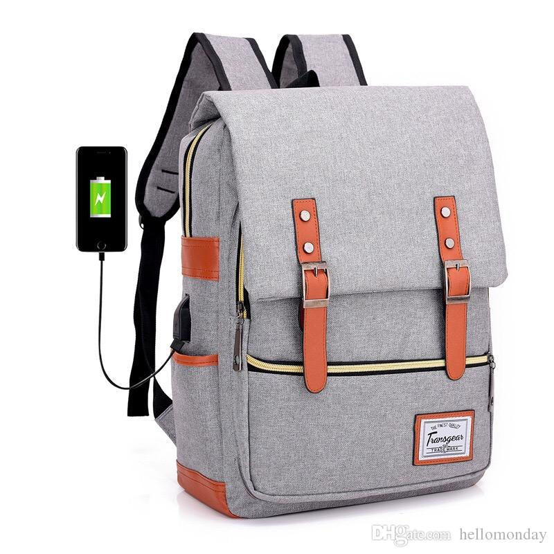 ea92daf85e2 2019 Vintage Laptop Backpack For Women Men