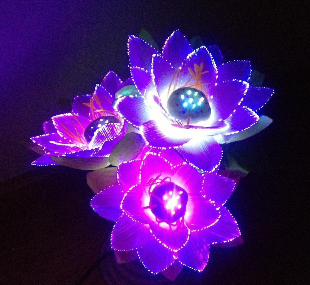 2018 led flower lights lotus light buddha lamp fo lamp novelty