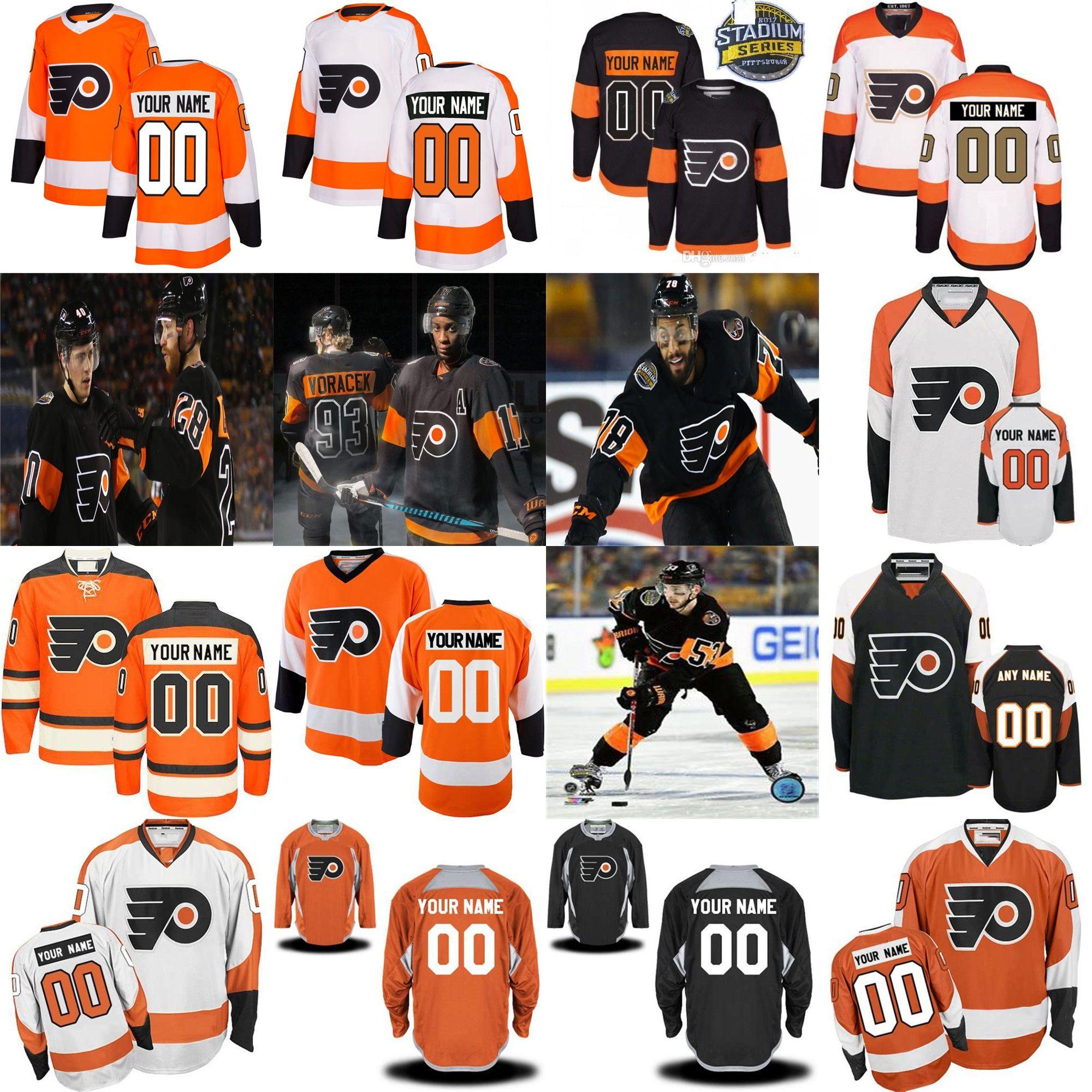 da5db3719 2019 Philadelphia Flyers 53 Shayne Gostisbehere 2019 New Third Wayne  Simmonds Claude Giroux Jakub Voracek Provorov Konecny Custom Hockey Jersey  From Probowl ...