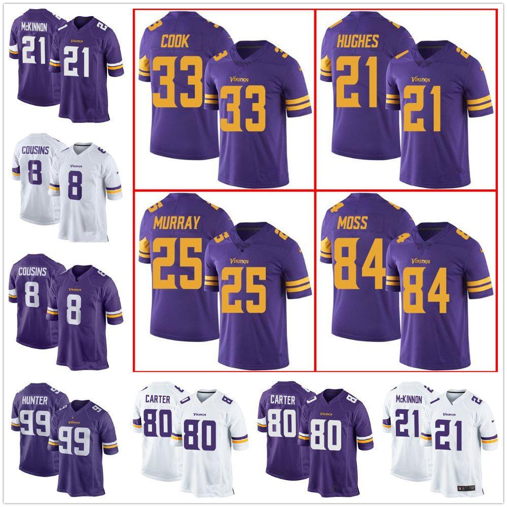 df3bde21dd3 Minnesota Vikings Jersey  21 Mike Hughes 84 Randy Moss 33 Dalvin ...