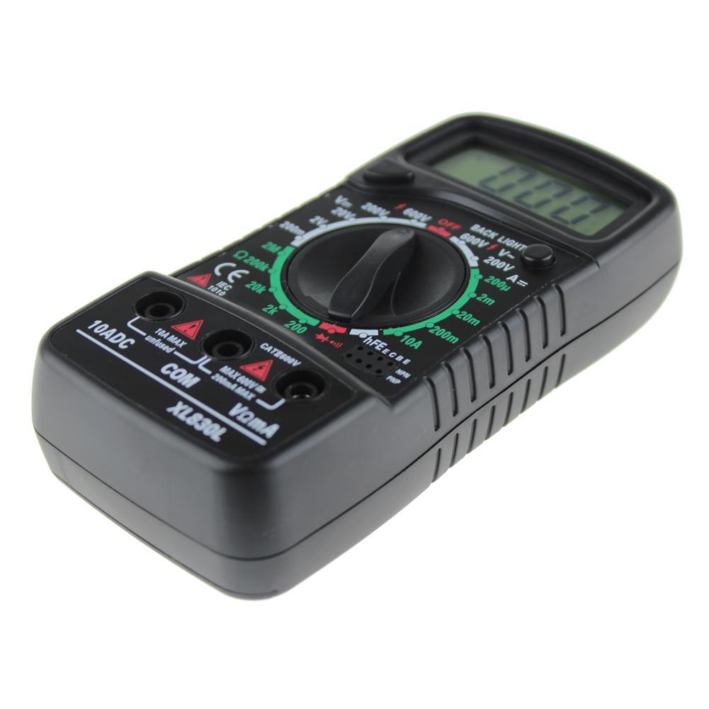 Misuratore digitale AC DC Tester Misuratore di tensione Ohm Misuratore di corrente Blu Retroilluminazione Amperometro