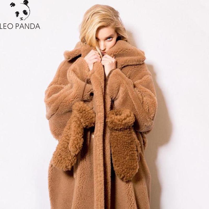 Acquista Cappotto Di Pelliccia Di Faux Inverno Teddy Bear Giacche Di Pile  Marrone Moda Donna Capispalla Femminile Giacca Fuzzy Di Spessore Cappotto  Lungo ... 21615703cf7