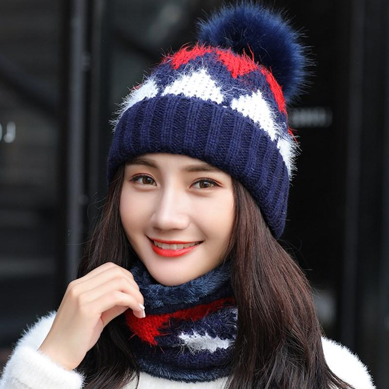 131bb4c73ea Ymsaid Girl Warm Ski 2018 New Brand Big Fur Pom Poms Warm Sweet Fashion Knit  Hat Set Winter Women Beanie Thick Hat Scarf Fitted Hats Straw Hats From  Yongq