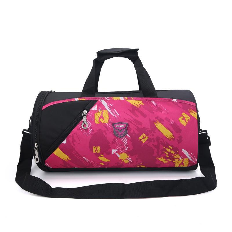 e5ff0fad9e 2018 Sports Gym Bag Women Men Fitness Bags Luggage Duffle Shoes Yoga  Waterproof Nylon Travel Training Shoulder Sport Bag From Fwuyun