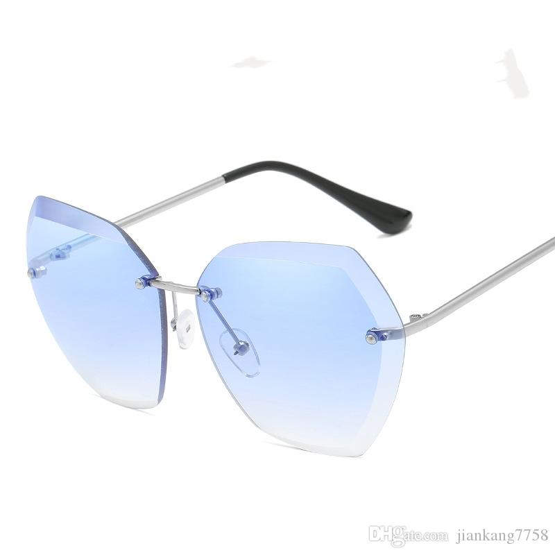e88336341a57 2019 latest marine lens sunglasses trend glasses sunglasses ladies  frameless metal sunglasses simple fashion, very attractivewholesale