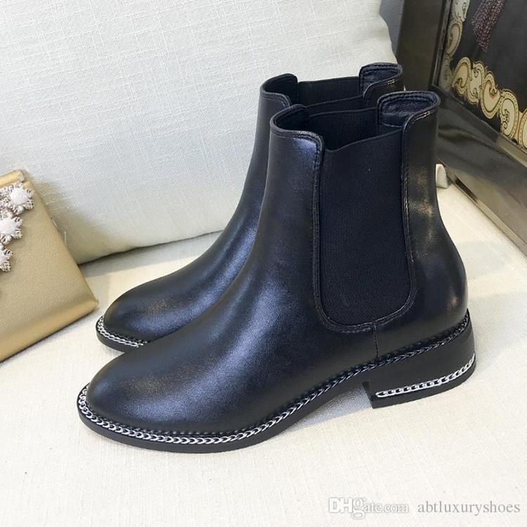 Großhandel Glvenhy Damen Stiefel Winter Knöchel Mode Stiefel Aus Leder  Wildleder Frankreich Luxus Atmungsaktive Damenschuhe Slip On Design Dame  Schuhe Drop ... 132481ec0c