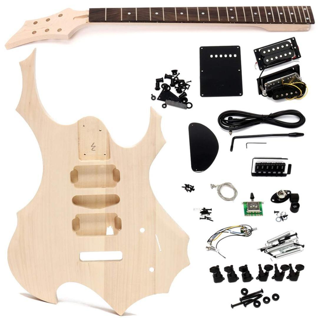 Unfinished Basswood Electric Guitar Children Handmade Diy Music Electronic Kits For Kids Instrument Body Neck String Educational Toy Good Acoustic Guitars Thinline
