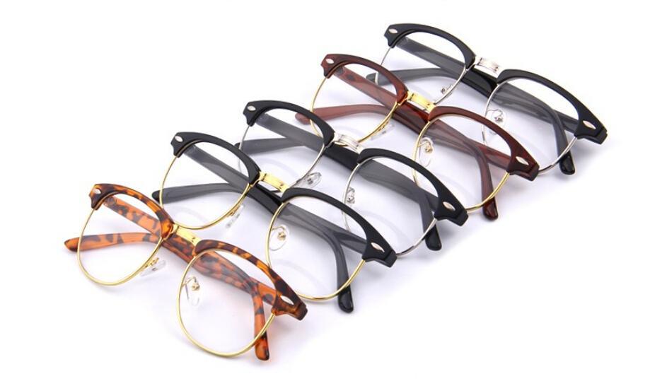 af0852c3820b New  1lot Classic Retro Clear Lens Nerd Frames Glasses Fashion New Designer Eyeglasses  Vintage Half Metal Eyewear Frame Eyeglasses Frames Online Shopping ...