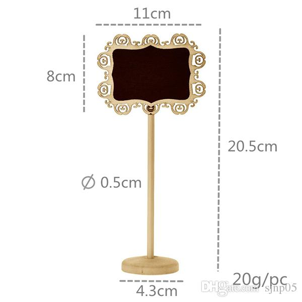 Творческий деревянный полый овальный в форме сердца мини доска классная доска из дерева на палку подставка держатель номер таблицы свадьбы украшения