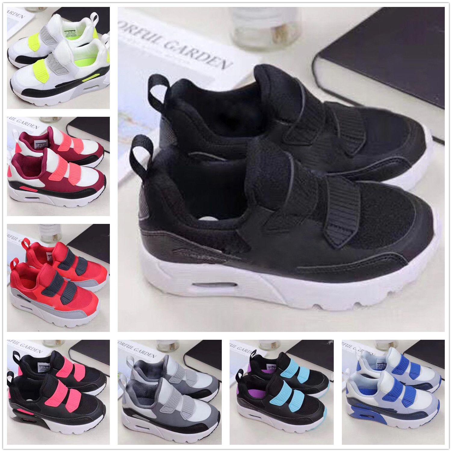 save off 76271 4117a Großhandel Nike Air Max 90 Airmax 90 Designer Neue Marke Kinderschuhe Baby  Kleinkind Dampf Classic 90 Kinder Junge Und Gril Sport Sneaker Basketball  Schuhe ...