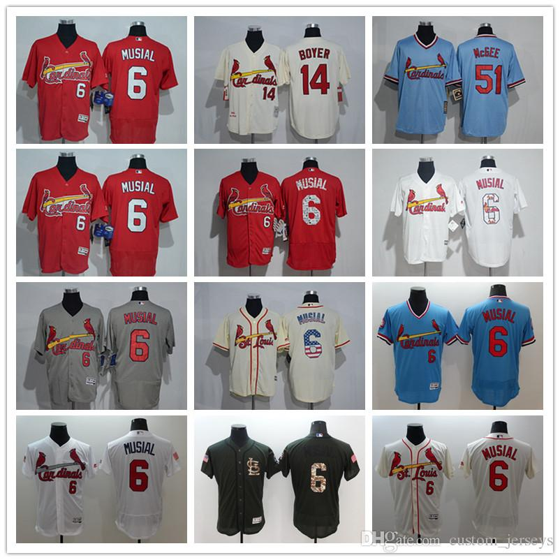 best sneakers 05504 58bd2 Cardinals Jersey custom Men Women Youth Majestic SL Cardinals 6 Stan Musial  51 Willie McGee 14 Ken Boyer Home Red White Baseball Jerseys