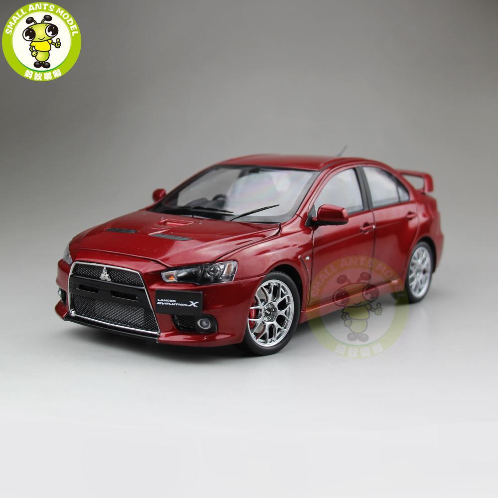 85df476e7af Compre 1 18 Mitsubishi Lancer EVO X EVO X 10 Direita Volante Diecast Metal  Modelo De Carro De Brinquedo Da Menina Do Menino Presente Vermelho De  Toyshome