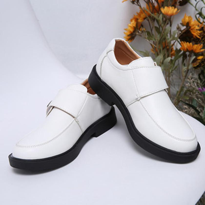 74df9f57702 2018 Fashion Newest Kids Soft Leather Wedding Dress Shoes For Boys Brand Children  Black Wedding Shoes Boys Formal Wedge Sneakers Cheap Leather School Shoes  ...