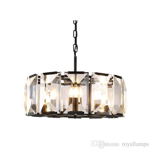 Svitz Modern Large Crystal Ring Pendant Lights For Dining Room Foyer Bar Luxury Round Iron Clear Lamp Shade Led Lamparas Bronze Lighting