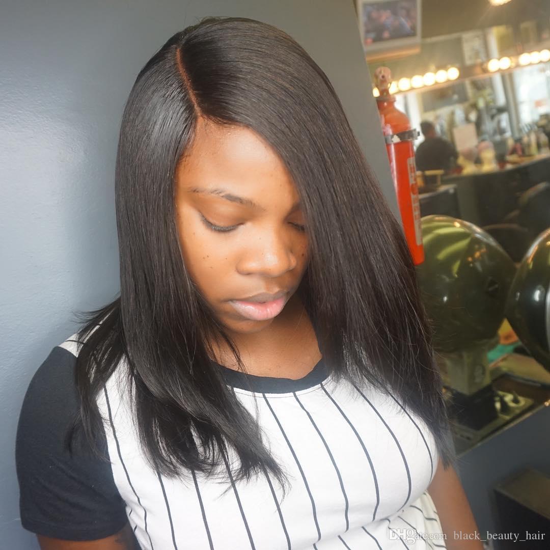 7a Short Peruvian Straight Hair Weave 3 Bundles Best Straight Hair