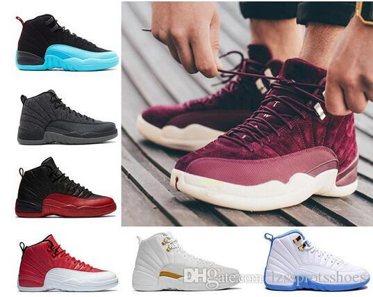 b69d9283cd3464 2019 Hot 12 GS Hyper Violet Youth Pink Valentines Day 12s Plum Fog Flu Game  Basketball Shoes Girls Master Taxi Sneaker Women US 5.5 13 From  Lzssprotsshoes