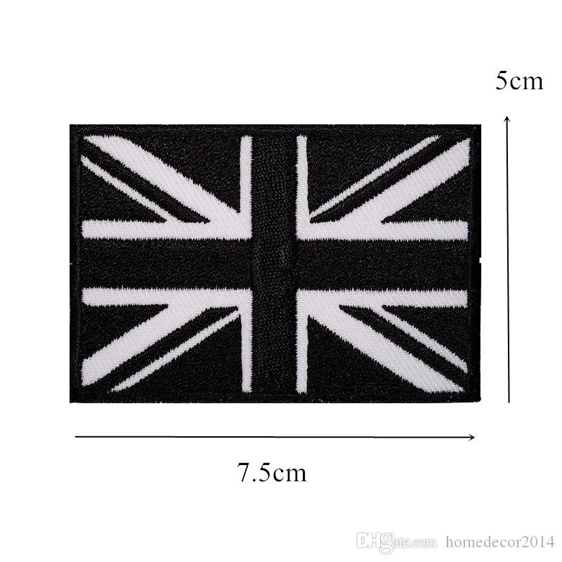 UK National Flags Embroidery Patches Sew Iron On United Kingdom Flag Badges For Bag Jeans Hat T Shirt DIY Appliques Craft Decoration