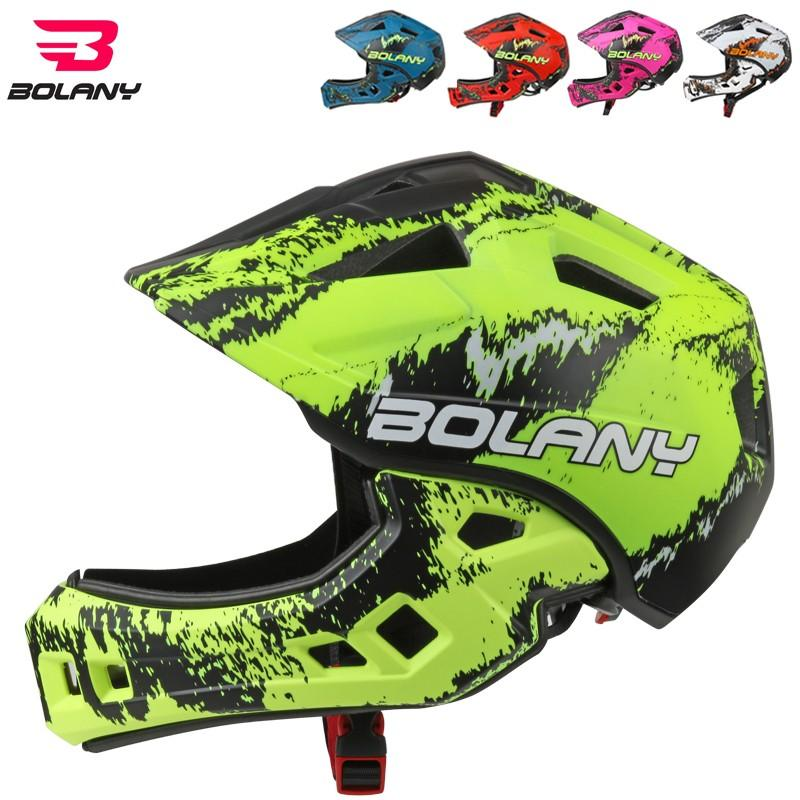 2019 Bolany Children Cycling Helmet Fullface Off Road Dh Mountain
