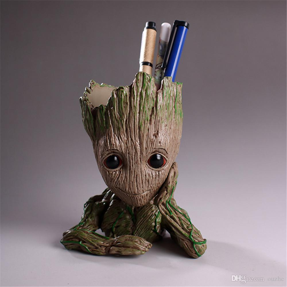 cosplay Props Baby Tree Men Guardians Of The Galaxy 2 Grootted Action Figures Flowerpot Pen Pot Cute Mini Grunt Model Toy Gifts