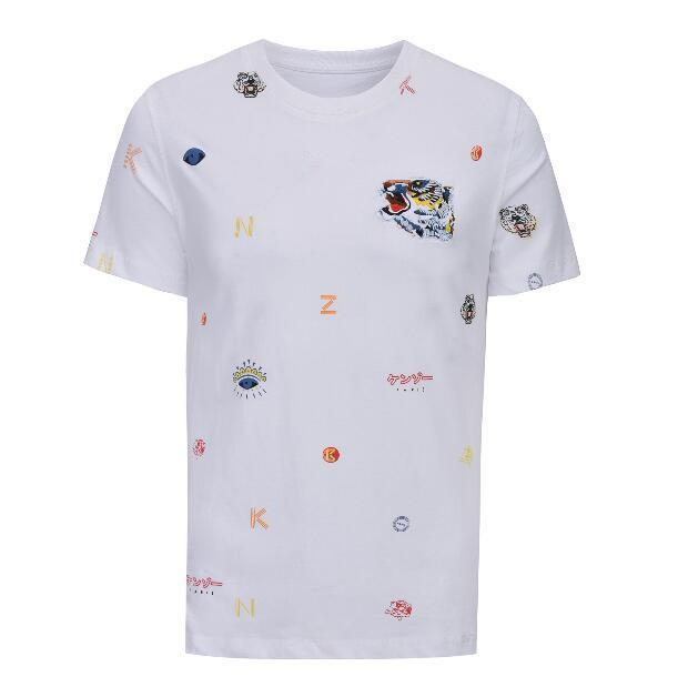 c2e95b57 2018 High Quality Brand Men Women short sleeve T shirt tiger eyes  embroidery print cotton men cool t shirt hip hop tops tees