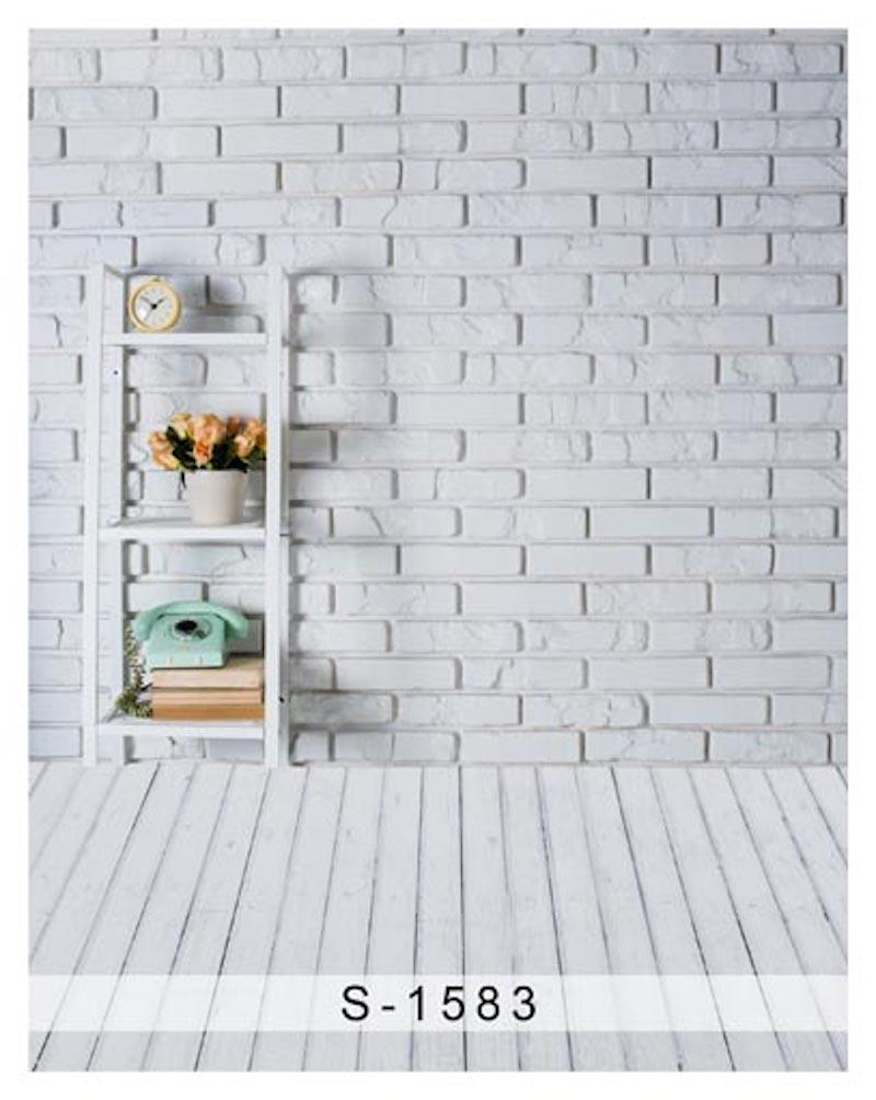 2018 5x7ft Vinyl White Brick Wall Wood Floor Photo Backdrop Background From Zhyd73 17 96 Dhgate Com