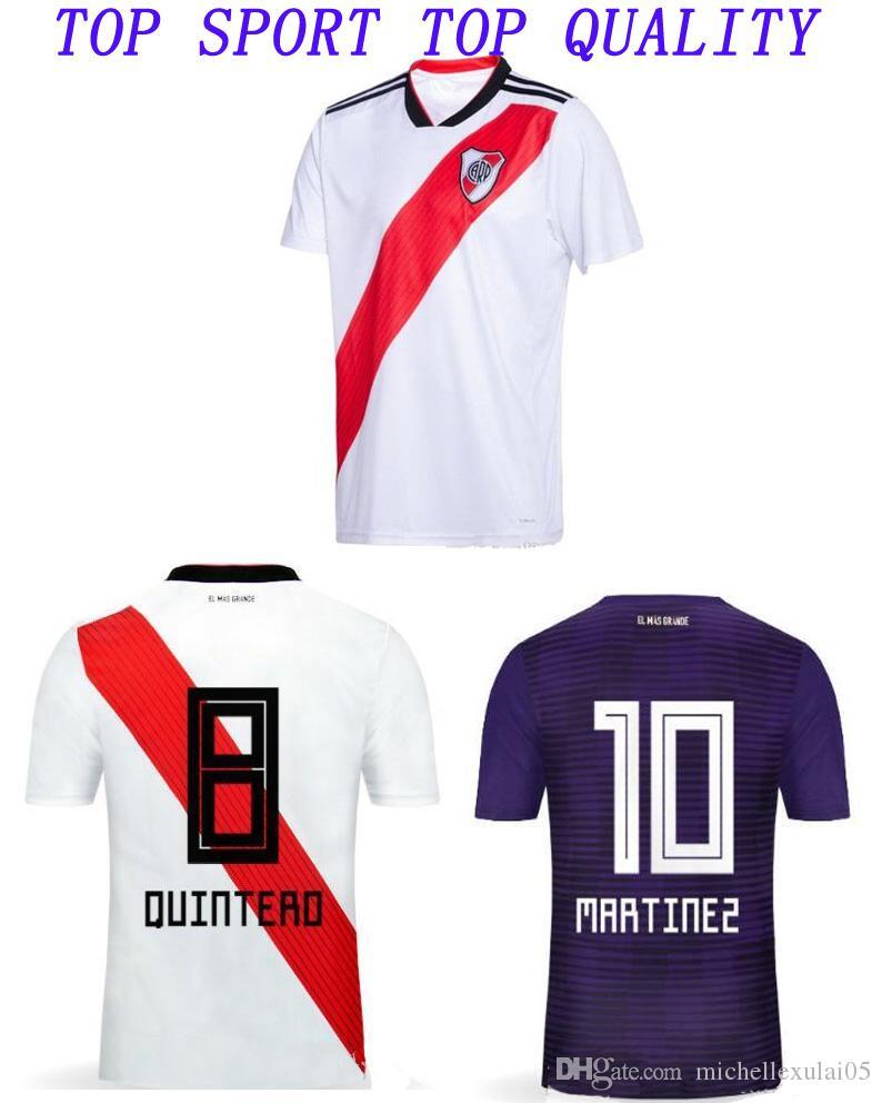 965391485 18 19 River Plate Camiseta De Fútbol Blanca Para El Hogar Lejos Del Fútbol  Top Morado De Fútbol Camisetas De Fútbol De Calidad Tailandesa Para Adultos  ...