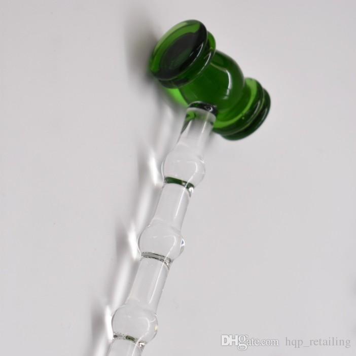 Nuevo diseño de martillo Pyrex Glass Dabber Tool para plataformas petroleras de vidrio de cera Dab Stick Carving tool