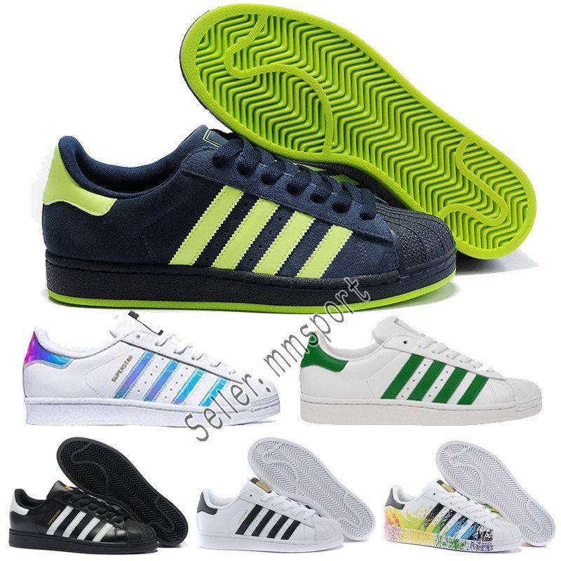 finest selection 1d0cd 909b4 Compre Adidas Envío Rápido 2018 Summer Fashion Para Hombre Zapatos Casuales  Superstar Mujer Zapatos Planos Mujer Zapatillas Deportivas Mujer Lovers  Sapatos ...