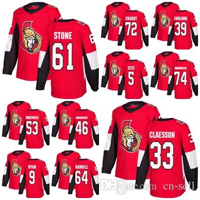 2018 Factory Outlet Mens Ottawa Senators 9 Bobby Ryan Thomas Chabot Mark  Stone Claesson 39 Andreas Englund Red Home Hockey Jerseys Stitche UK 2019  From Cn ... a6a1b693b