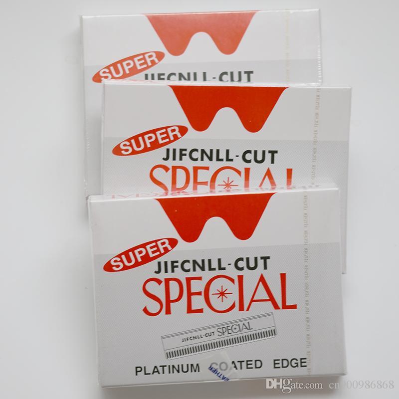 100 peças / lote, atacado super pás lâminas de barbear / lâmina afiada para lâmina de cabelo com lâminas removíveis