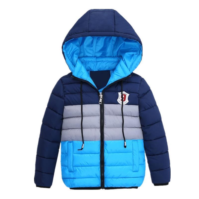 Abrigos Con De Compre Chicos Niños Chaquetas Azul Chaqueta Invierno EqApZxBA8
