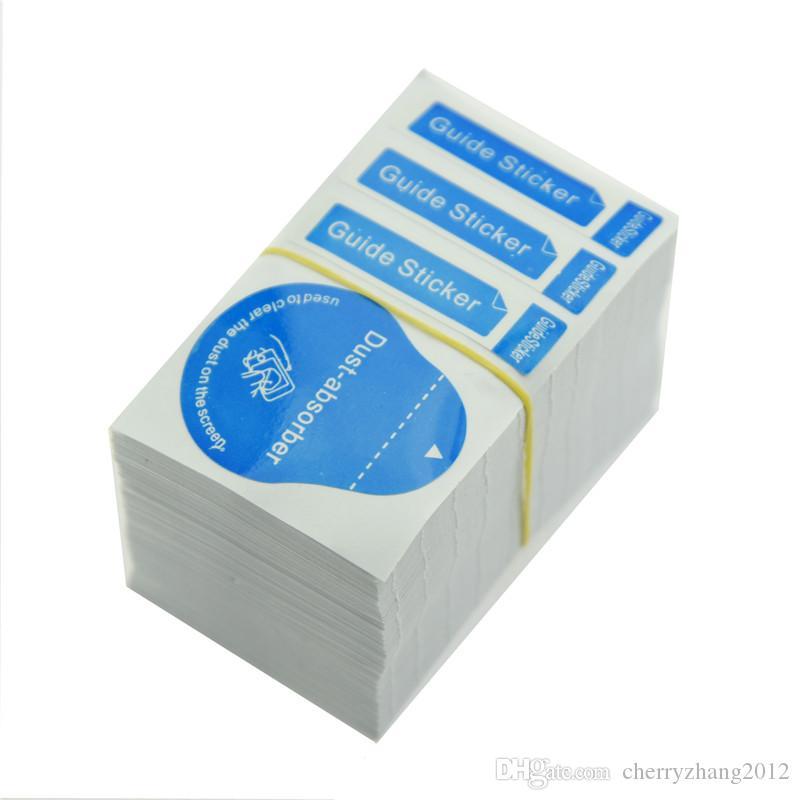 Оптовые Инструменты для очистки Wet Dry 2 в 1 Wipe пыли Амортизатор Руководство Наклейка для Закаленное стекло экрана протектор