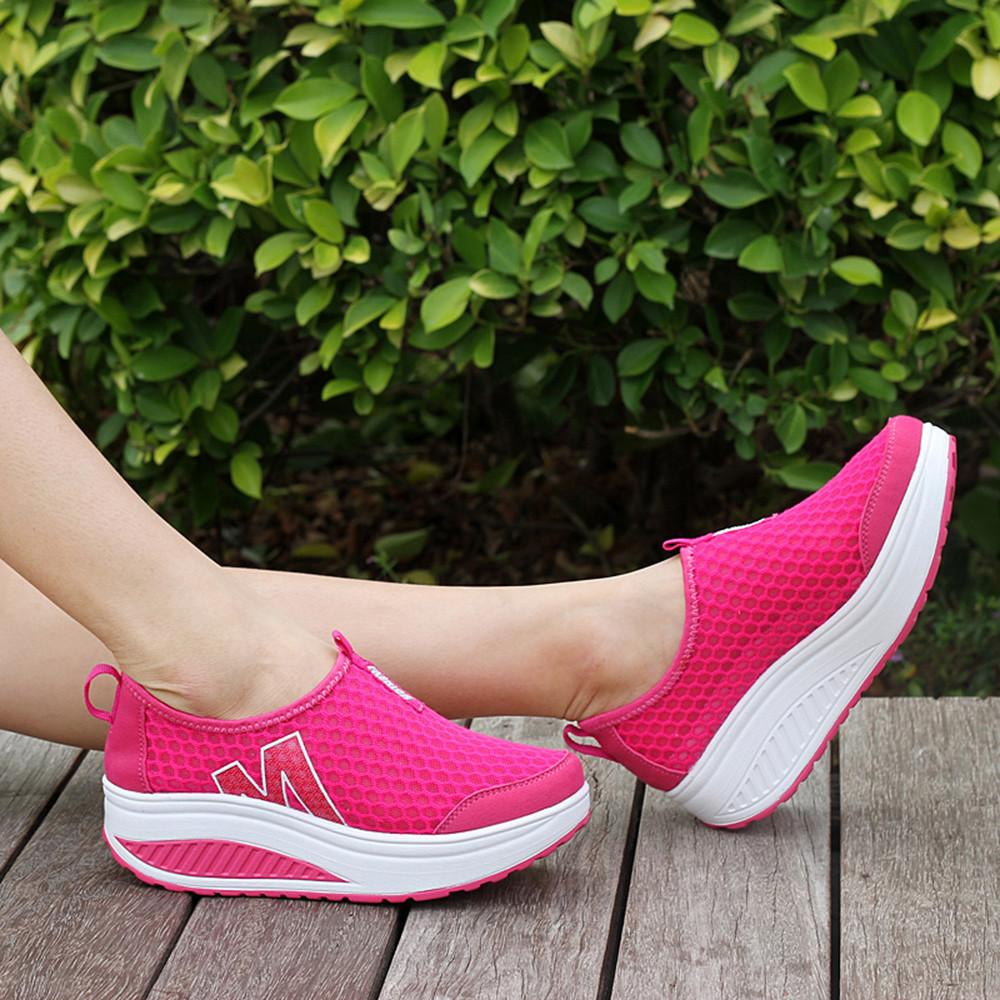 2019 Casual Breathable Sneakersen Casua Fashion Women Platform Shoes Oafers Breathable  Air Mesh Swing Wedges Shoeer NFA Best Shoes Italian Shoes From Bag0 f02cb547d7b4