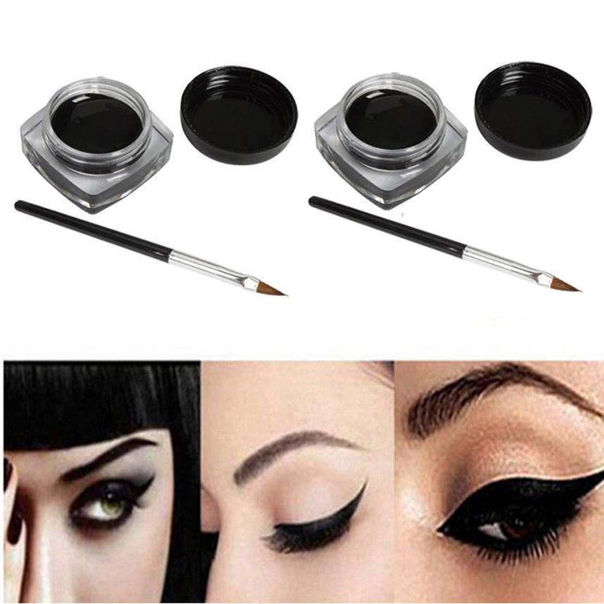 679e96a42c4 Hot Best Deal Mini Eyeliner Gel Cream With Brush Makeup Cosmetic Black Life Waterproof  Eye Liner J16X10 Eyeliner Tutorial Gel Eyeliner From Carloas