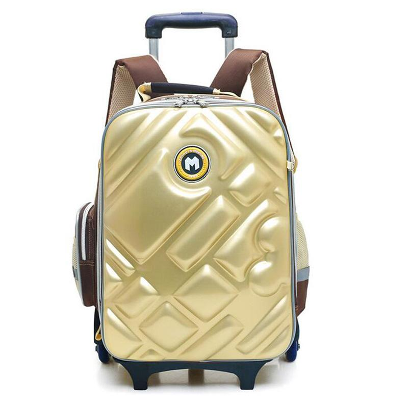 ef66ea47d097 New Brand Three Wheel Trolley School Bag For Children High Quality EVA Hard  Shell Kids School Backpack Girls Waterproof Bags Black Plain Backpack  Latest ...