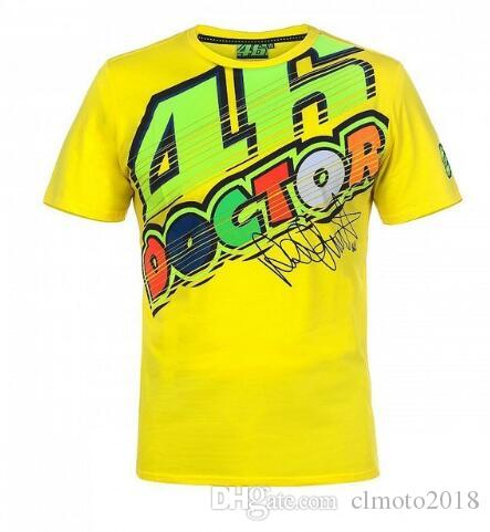 2018 Valentino Rossi VR46 The Doctor Yellow T'Shirt Racing Moto GP VR46 Men's T-Shirt E