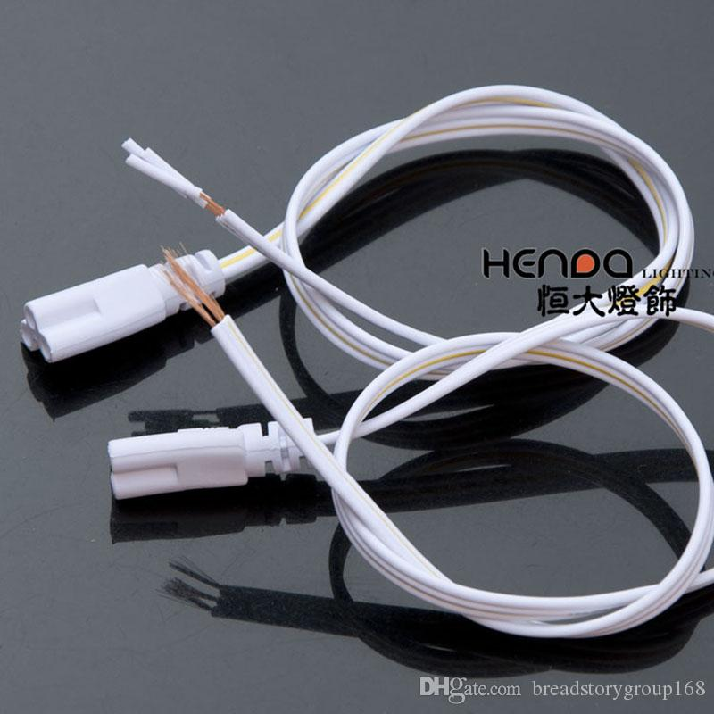 T5 T8 Tube Connectors for Fluorescent Lamp Integrated LED Tube Docking Copper Wire Flat Wire Extension Cord