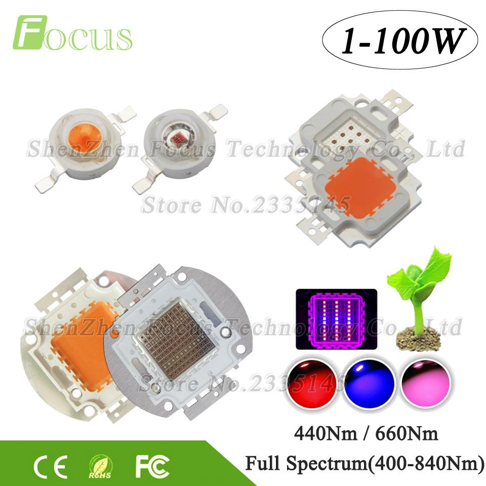 Pcs 30W Deep Red 640-660nm High Power LED Chip SMD Plant Grow Light Beads Bulds