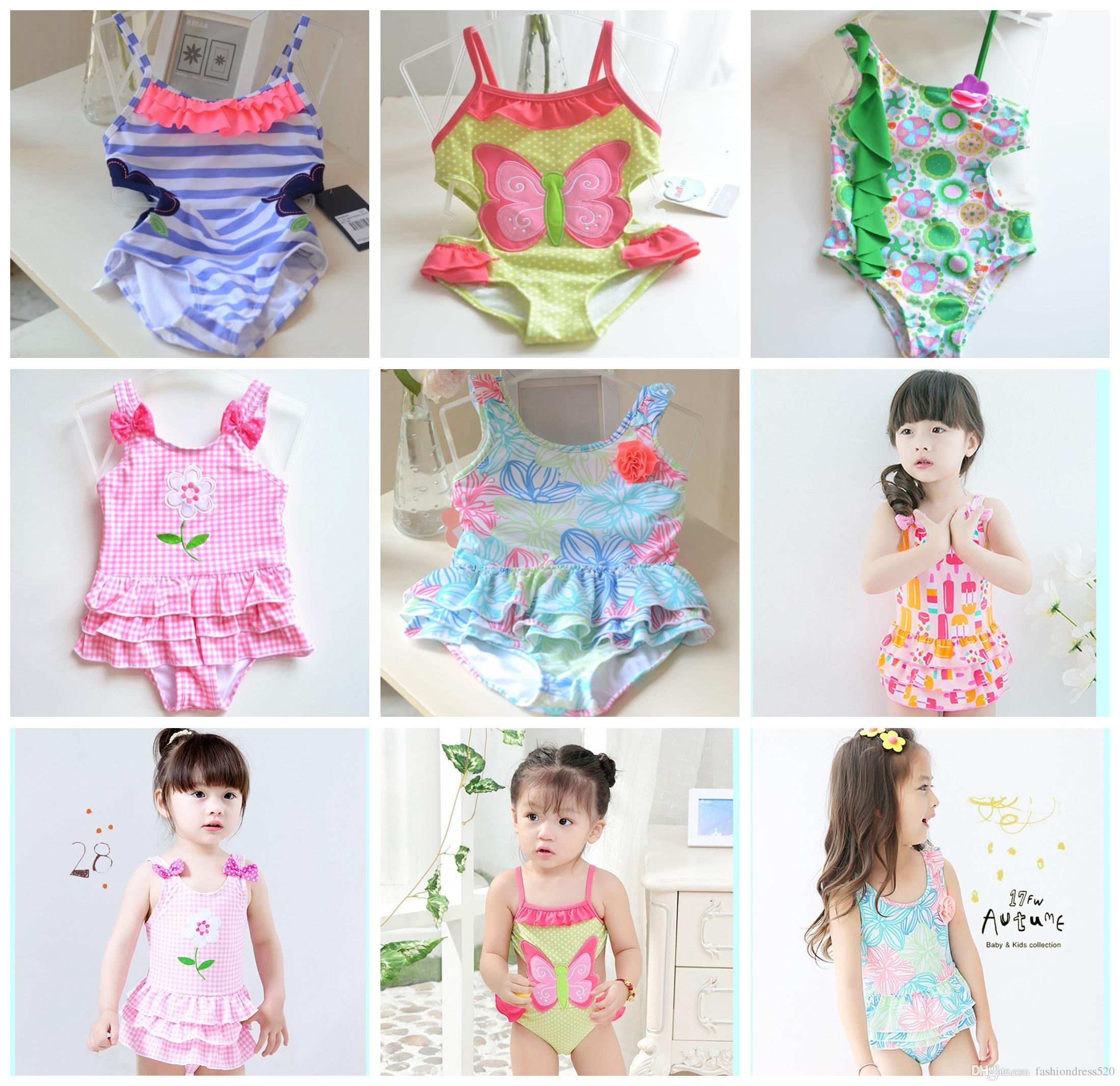 43f6e3b1f1 2019 New Swimsuit Children Cute Baby Girl Swimwear One Piece Beautiful  Printed Pattern 1 12Y Girls Swimsuit Kids Children Swimming Suit Free DHL  From ...