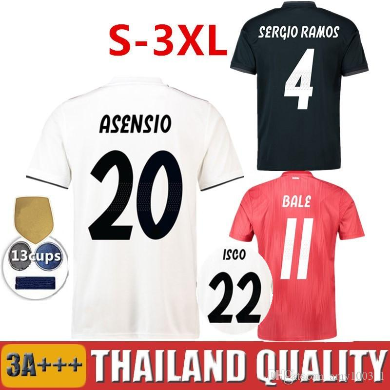 922c5a252a495 18 19 Real Madrid Soccer Jerseys MODRIC ASENSIO VINICIUS JR Football ...